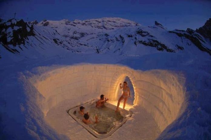 Switzerland Matterhorn Outdoor Jacuzzi