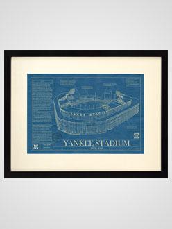 Ballpark Blueprint Yankee Stadium