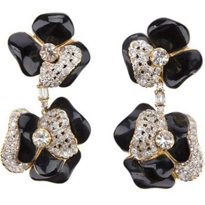 Timeless Flower Design Vintage Valentino Earrings