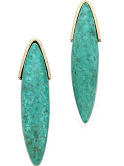 Elegant Turquoise Earrings Gemma Redux Jewelry