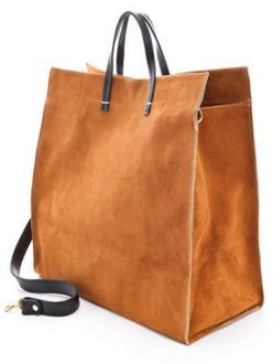 Clare Vivier Simple Tote Suede Bag