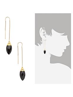Heather Hawkins Delicate Gold Earrings Chic Onyx