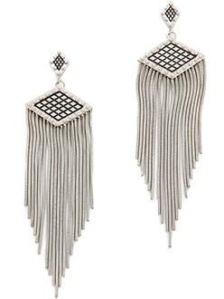 Rebecca Minkoff Great Gatsby Inspired Silver Earrings