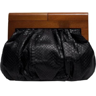 Felix Rey 70's Inspired Snakeskin Clutch Bag