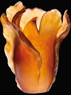 Daum Crystal Tulip Vase French Craftsmanship