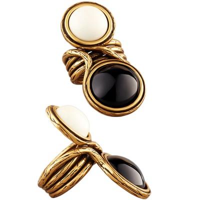 Oscar De La Renta Classy Gold Cocktail Ring