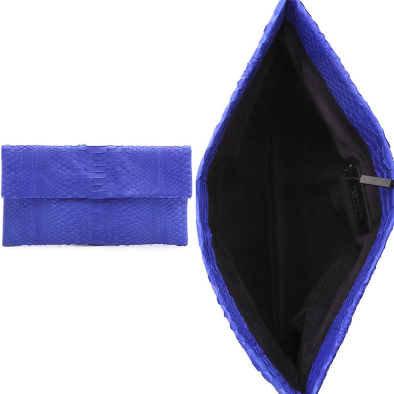 Bright Python Skin Primary Clutch Bag