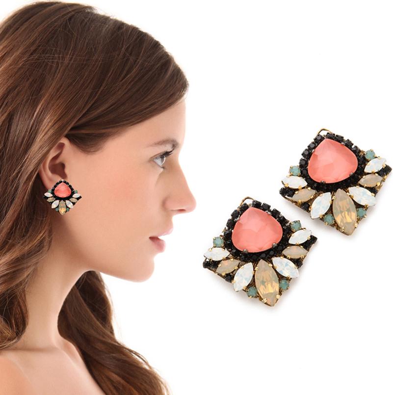 Colored Swarovski Crystal Erickson Beamon Earrings