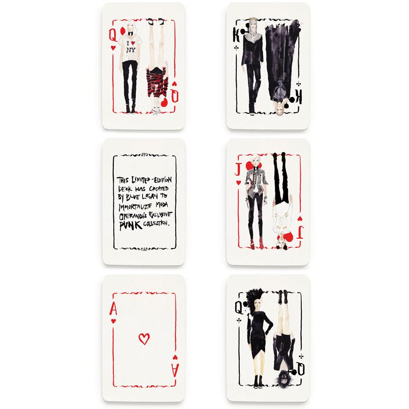 Blue Logan Punk Rock Playing Cards