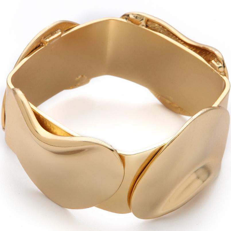 Tuleste Market Vintage Inspired Gold Flower Cuff Bracelet