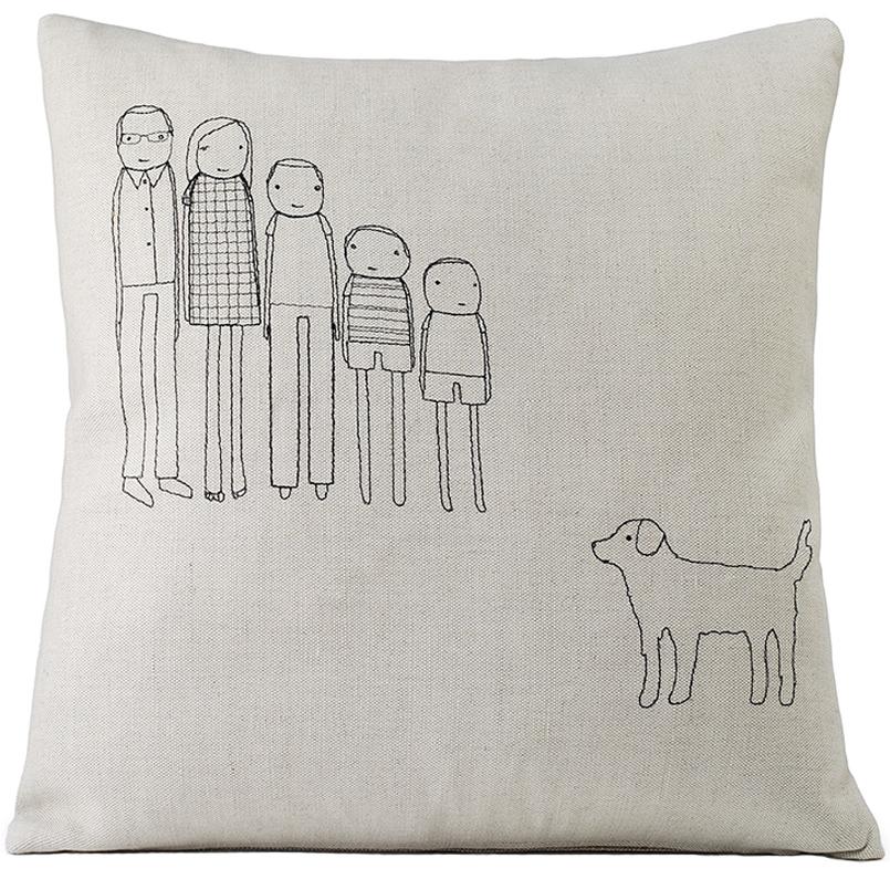 K Studios Unique Handmade Custom Family Pillow