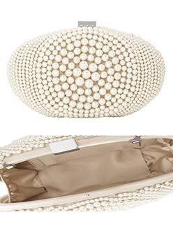 Pearl Beaded Clutch Bag