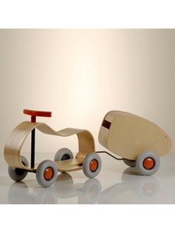 Childrens Wooden Push Cart
