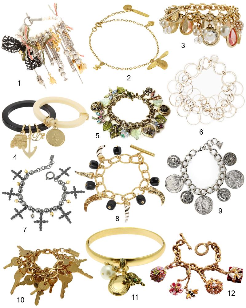 The Hit List - 12 Stylish Charm Bracelets For Women