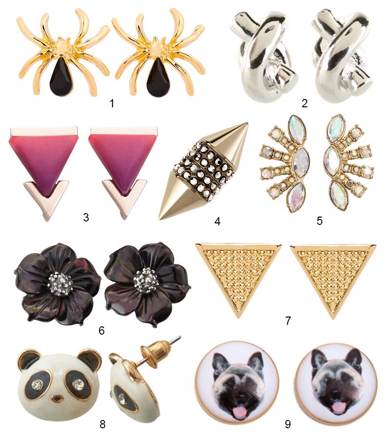 Modern Stud Earrings