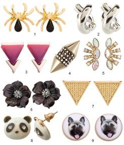 Modern Stud Earrings www.curatedcool.com