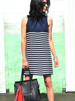 The Navy Striped Dress