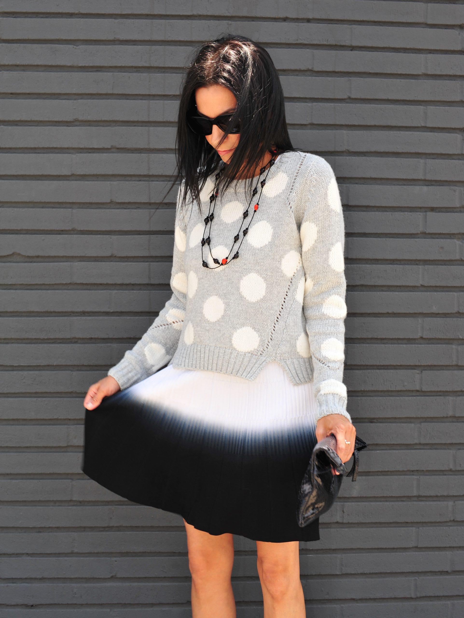 Cool Tone - Parker Skirt & Polka Dot Sweater