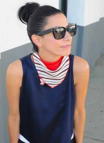 Red White And Blue - Townsen Tank - Jenni Kayne Tuxedo Pants