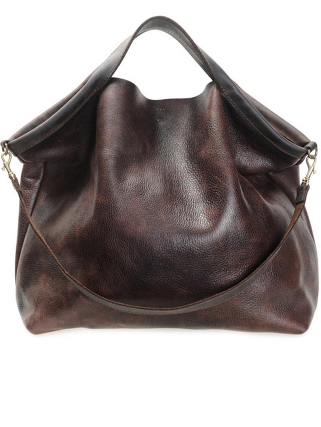 Rustic Brown Hobo Bag - Jo Handbags