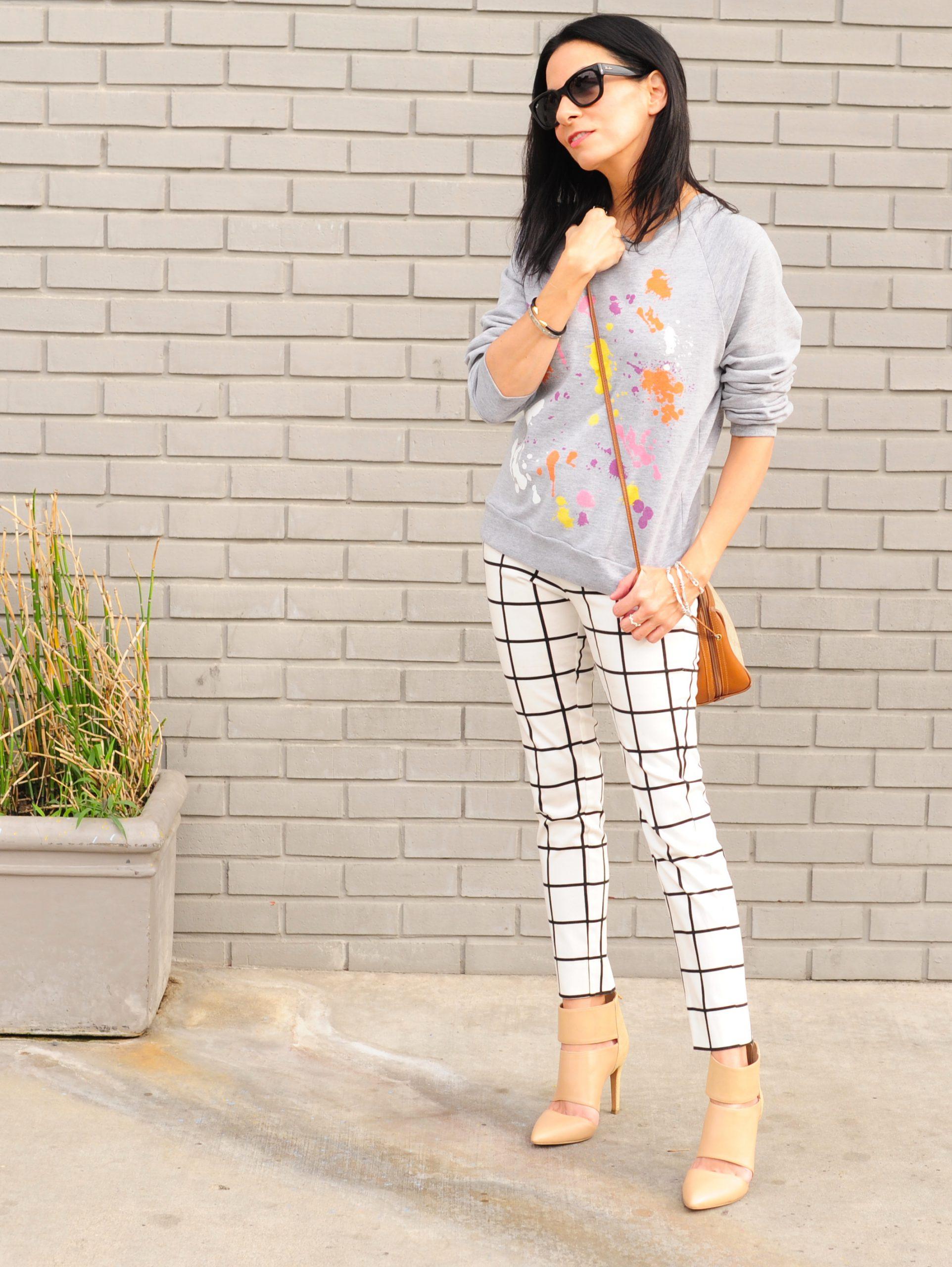 color outside the lines - splatter paint sweatshirt