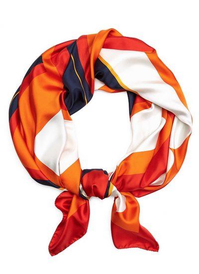 Orange Silk Scarf Brooks Brothers