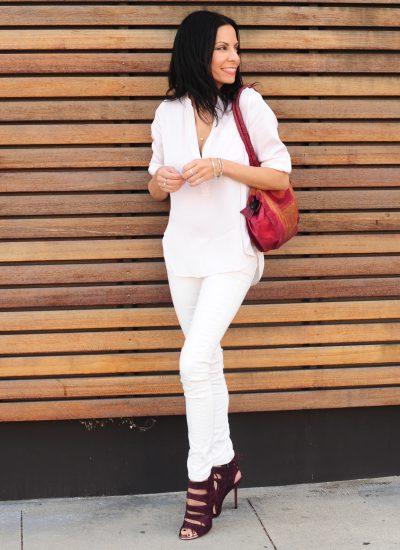Styling Fashion Basics - Vince White Blouse