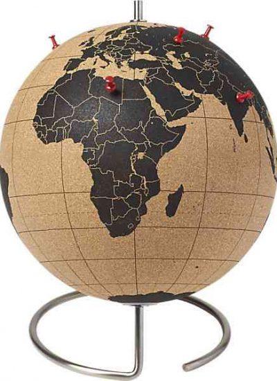 Gloabl world map cork board