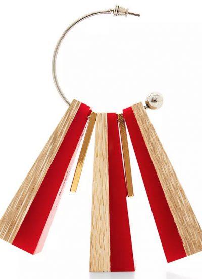 Wood Marni Earrings