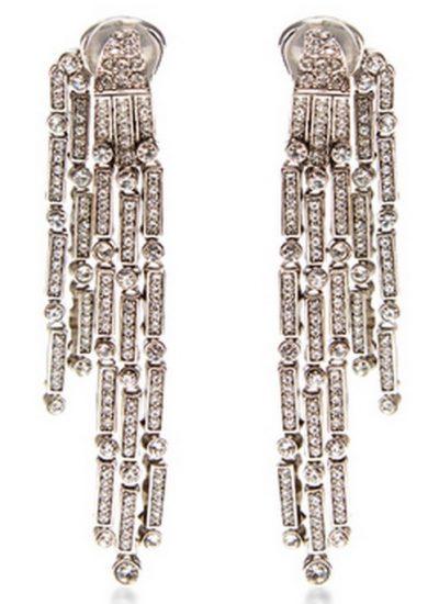 Oscar De La Renta Drop Crystal Earrings